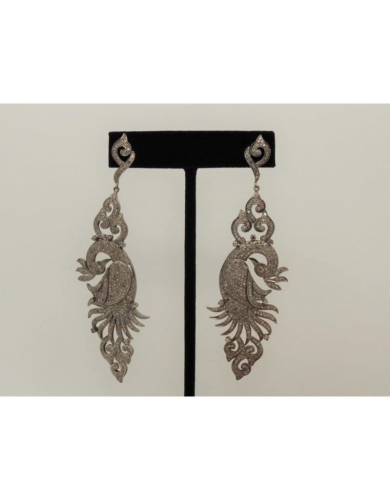 Diva Jewels 21506 peacock large diamond earrings