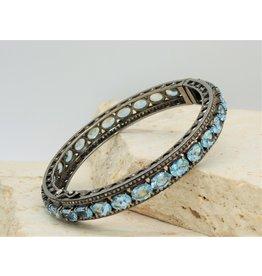Diva Jewels 17955 aquamarine & diamond bangle