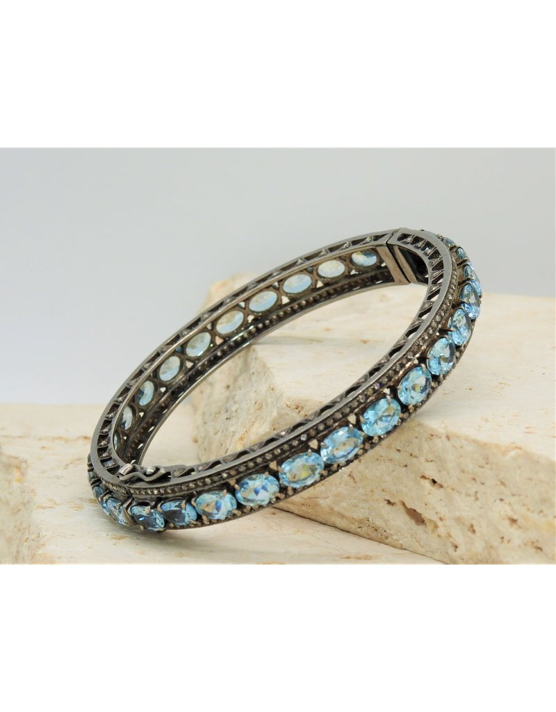 Diva Jewels 17955 aquamarine & diamond bangle