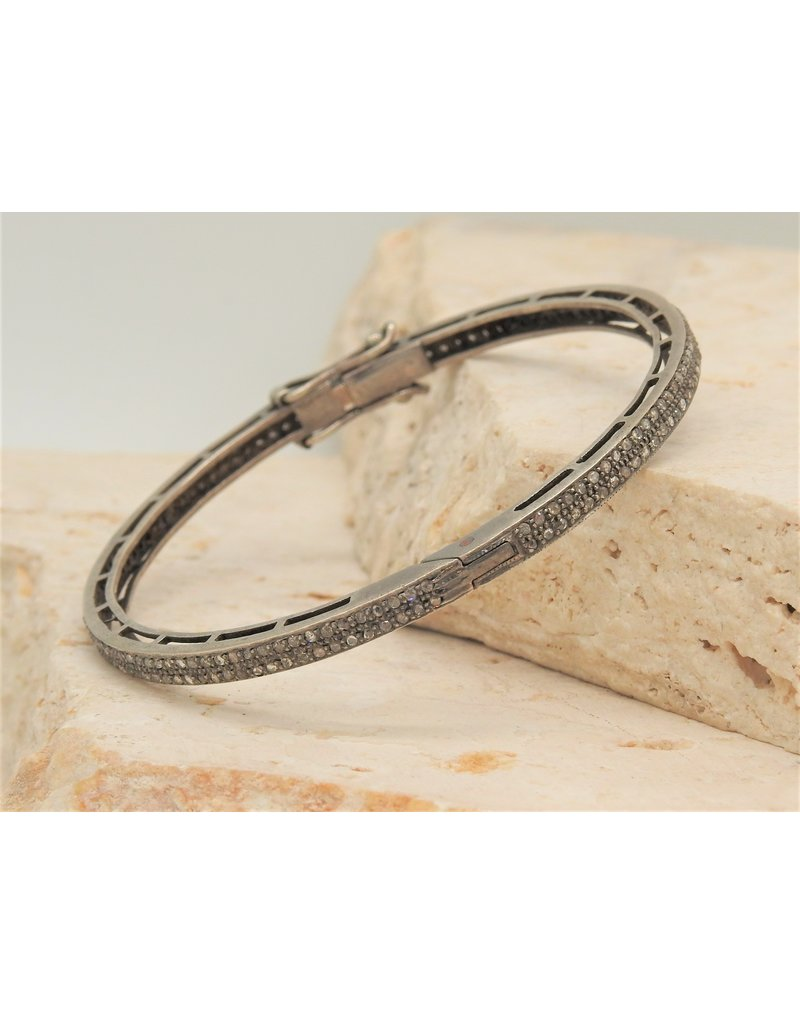 Diva Jewels 6379 (2 row diamond bangle)
