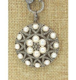 Diva Jewels 9700-P (Pearl and diamond pendant)