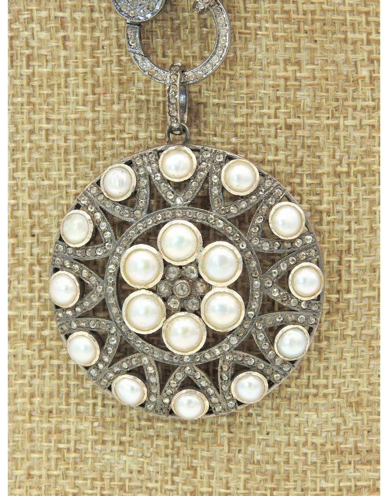 Diva Jewels 9700-P (Pearl and diamond pendant)
