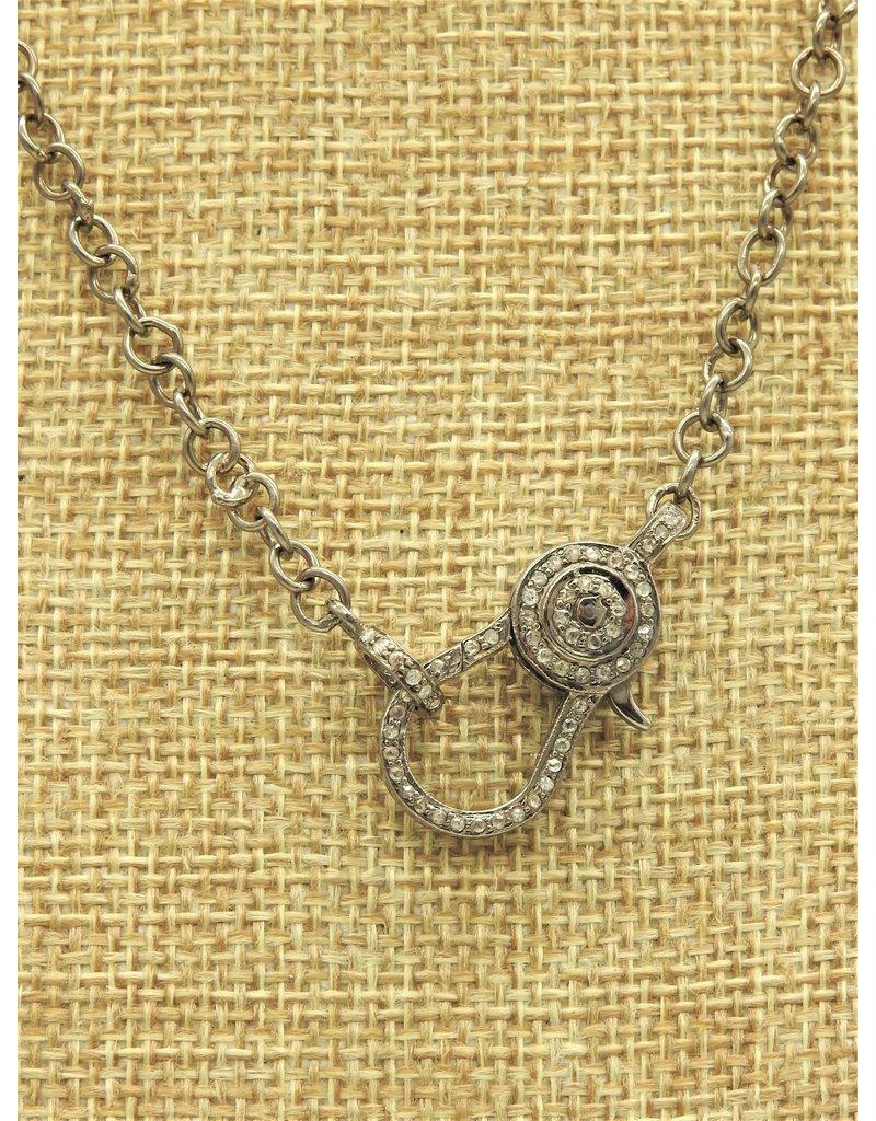 """Diva Jewels 8298-D18 Diamond 18"""" Chain-Oval Claspe"""