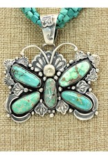 SW Native American SW-P Turq. 5 Stn. Butterfly Pendant