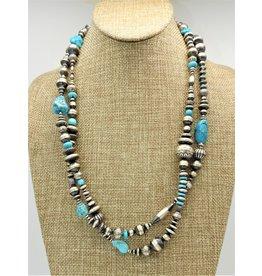 "SW Native American SW-N 48"" Turq. & Navajo Pearls"