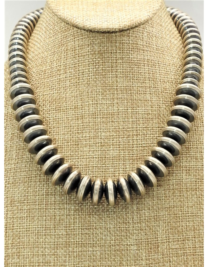 """SW Native American Beads/Disc. Graduated 18"""""""