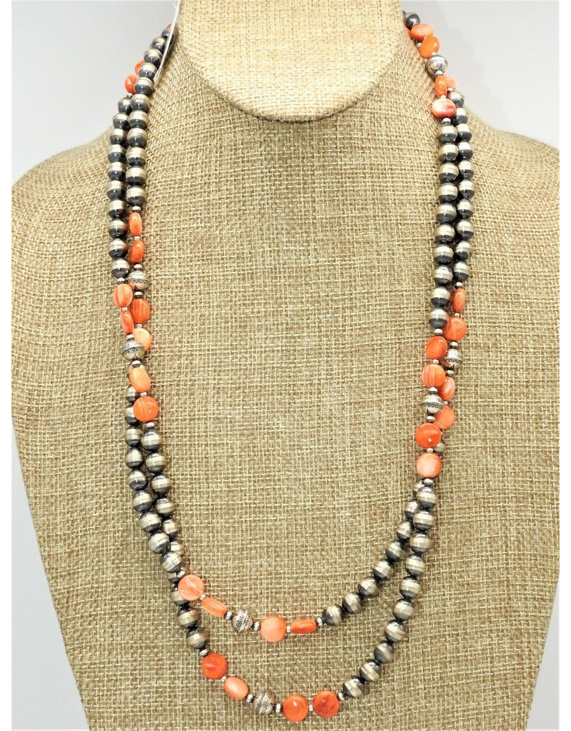 """SW Native American SW-N 48"""" Spny Oyster & Navajo Pearls"""