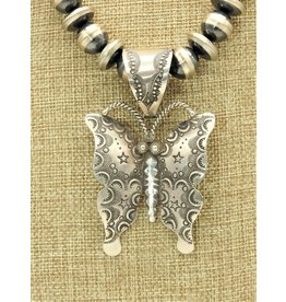 SW SW-P SS Stmpd. Butterfly Pendt (Beads sold separately)