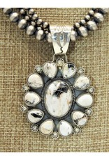 SW Native American SW-P Wht.Buff.11stn. cluster pndnt (Beads sold separately)