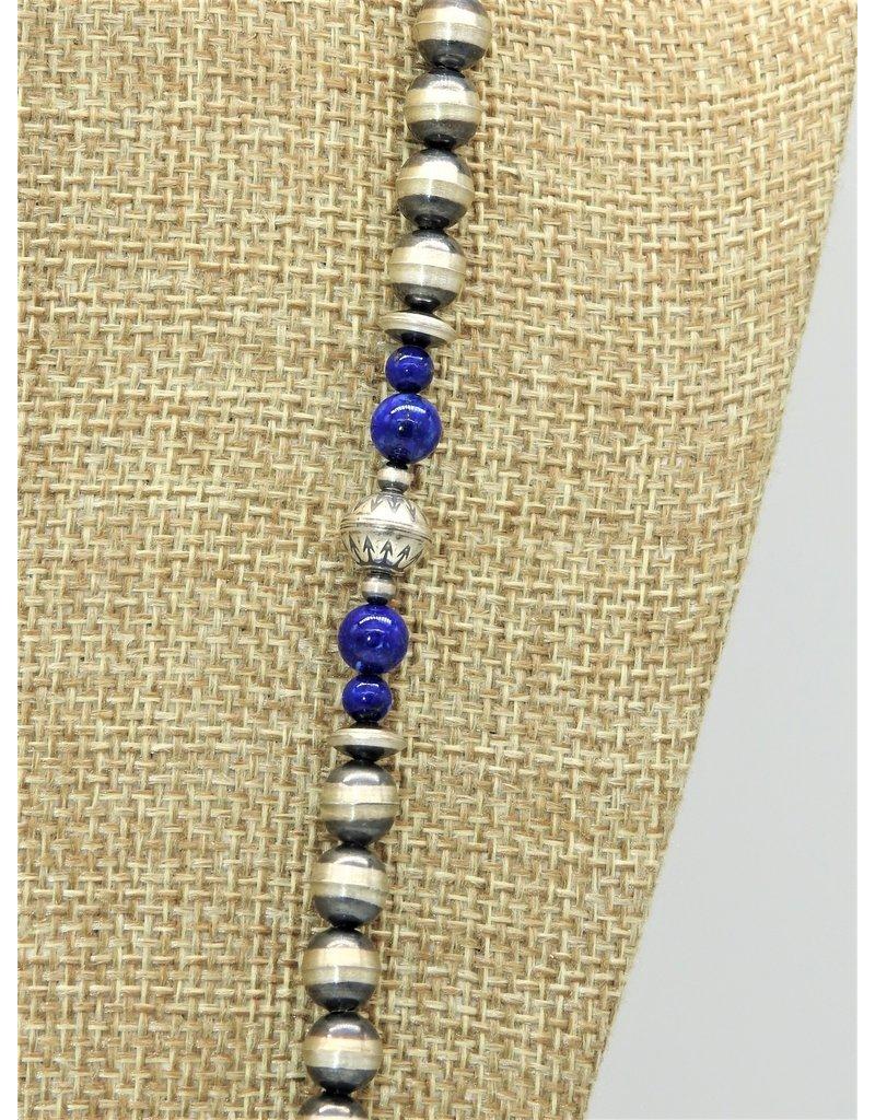 "SW Native American SW-N 60"" Lapis & Navajo Pearls"