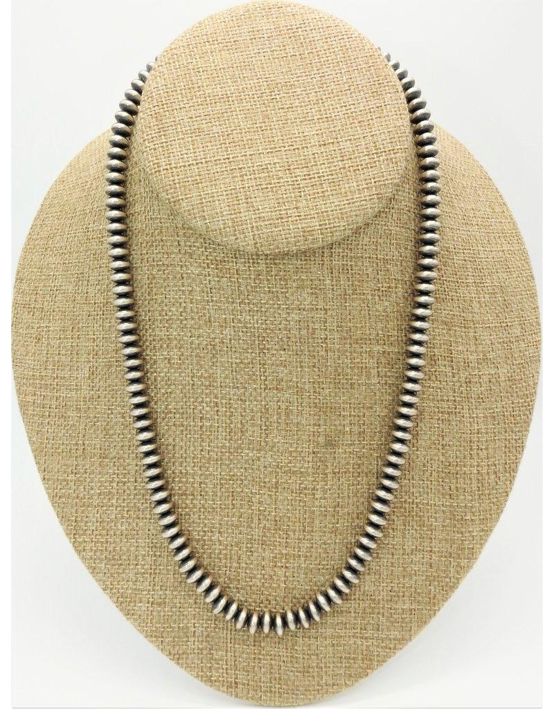 "SW Native American Beads Strlg 20"""