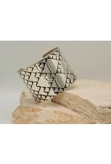 "SW Native American Cuff Diamond Pattern 2"" Sterling Sz.6.5"