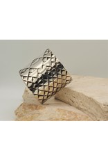 "SW Cuff Diamond Pattern 2"" Sterling Sz.6.5"