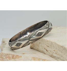 SW Native American SW-B SS Stamped Bangle2 by Vincent