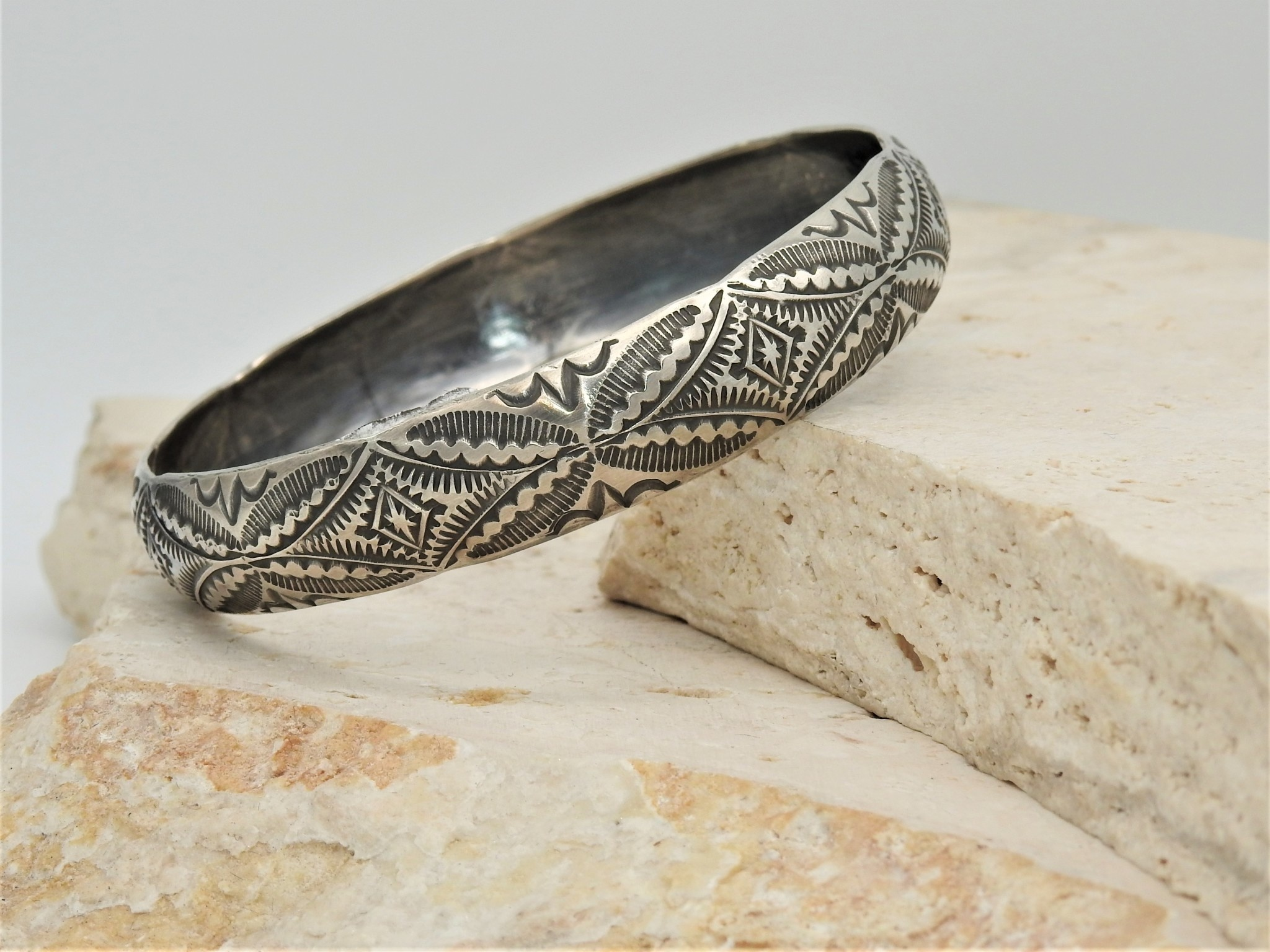 SW Native American SW-B SS Stamped Bangle3 by Vincent