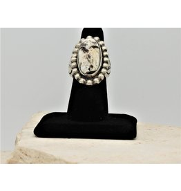 SW Native American White Buffalo Oval Ring
