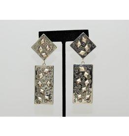 SW Native American Rect/Tri Dangle Sterling Earrings