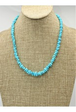 Silver Sun Sleeping Beauty Turquoise Nugget Necklace