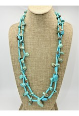 Silver Sun SS-C Kingman Bead,Slab,Nugget Necklace