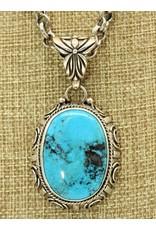 Shreve Saville SS w/Natural Blue Turquoise Pendant