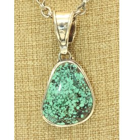 Shreve Saville SS Triangle w/Turquoise pendant