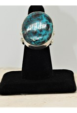 Silver Sun 13R002 Azurite Lg.Oval Ring