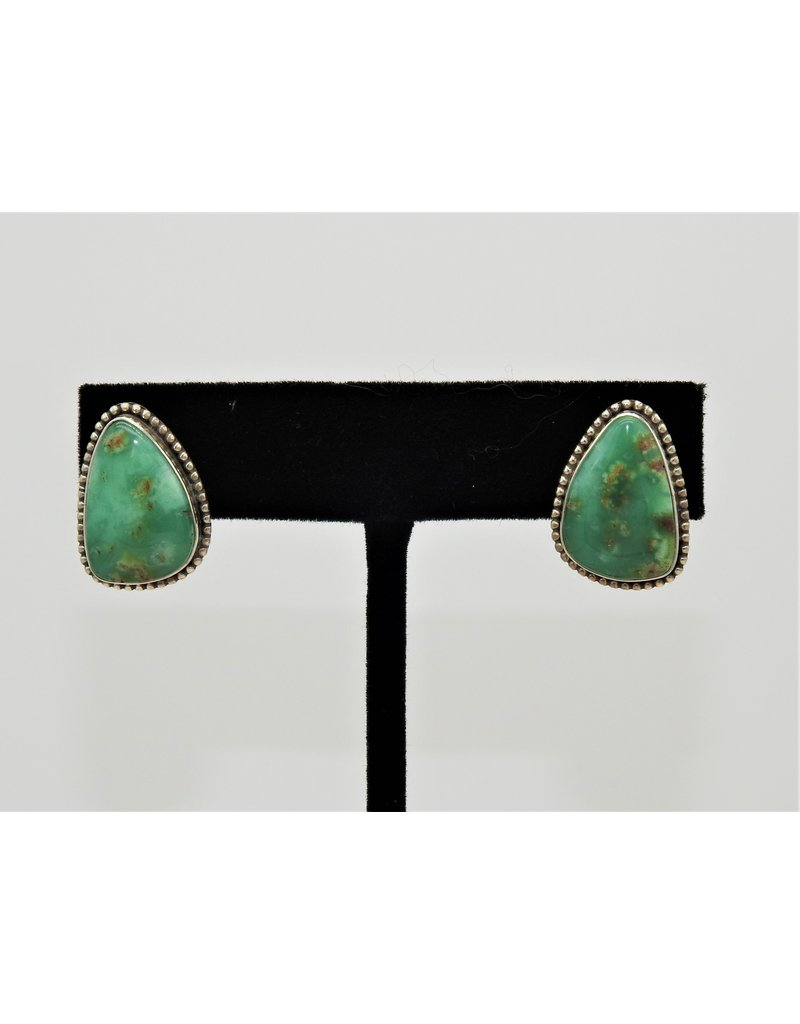 Silver Sun Australian Chrysoprase earrings