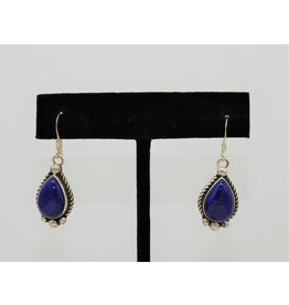 Silver Sun Lapis earrings by Rosella Sandoval