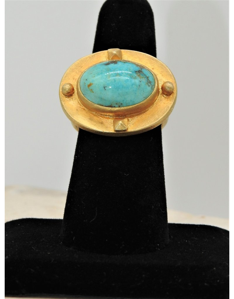 Top Turquoise TT Natural Persian Turquoise Dome Ring