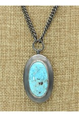 Top Turquoise N-oxchainpendantPT (necklace oxidized chain Persian turquoise pendant )