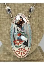 "SW Native American 30"" Zuni, Quam Family Inlaid Necklace"
