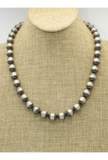 "SW Native American Beads Strlg 20""-22"""