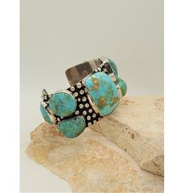 Northstar B-B (Bracelet cuff Bullet Multi stone Natural Turq)