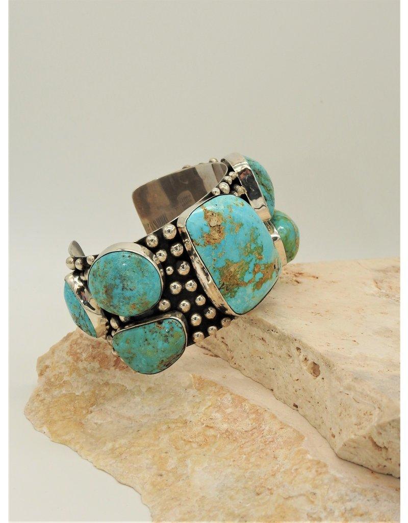 Northstar 7 Stone Cripple Creek Turquoise Bracelet