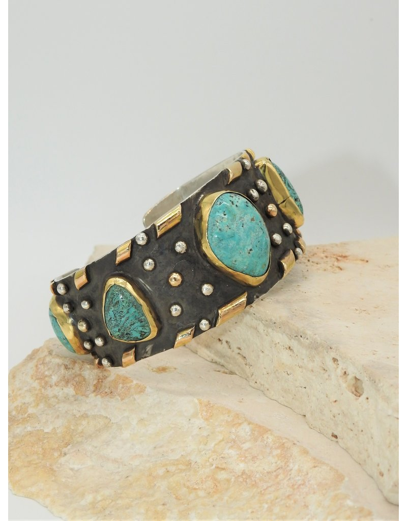 Northstar NS-SS, 14K, Cripple Creek Turquoise Bracelet