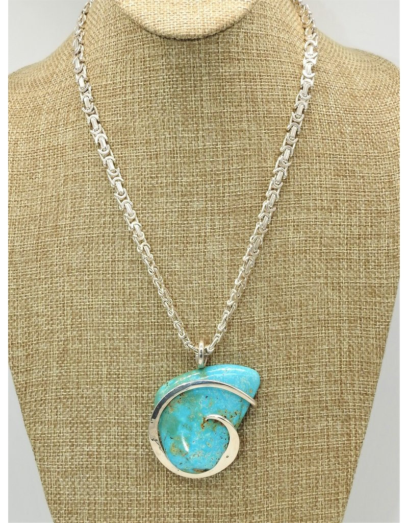 Northstar NS-SS Swirl w/ Cripple Creek Turquoise Necklace