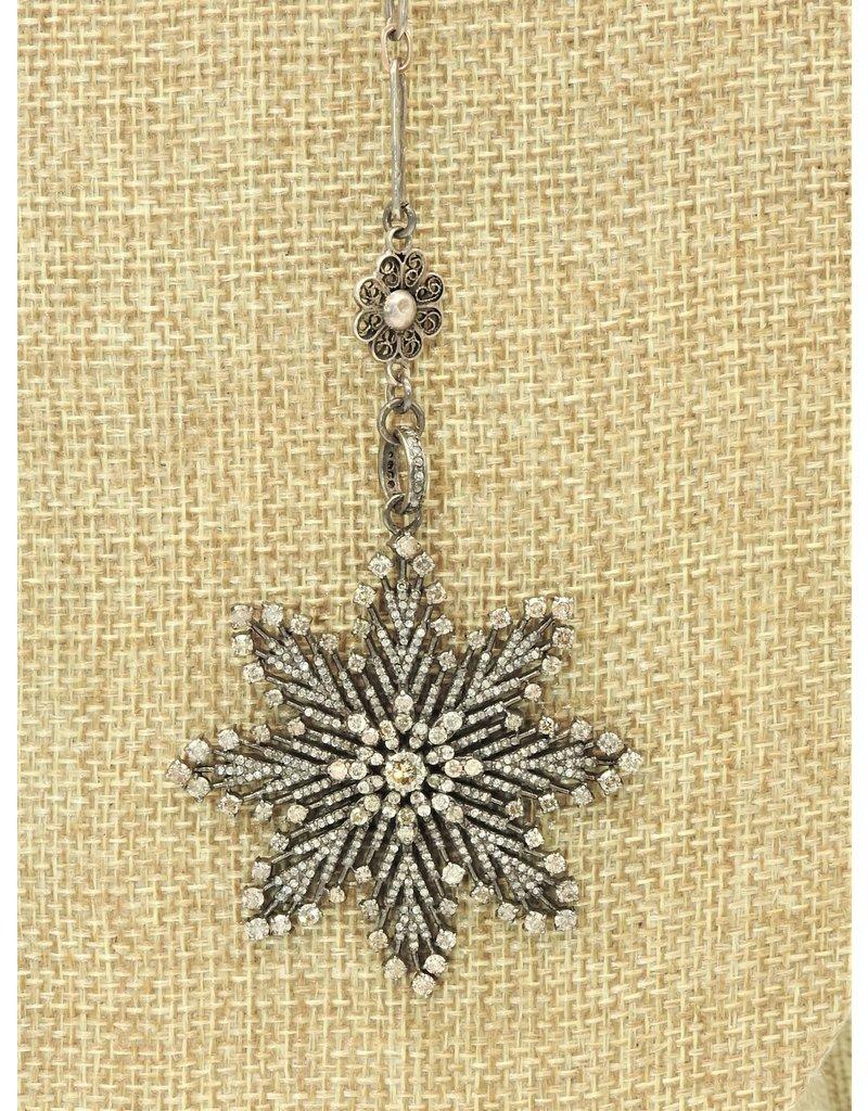 "Gildas Gewels N1296C 16"" Diam. Flower Necklace"
