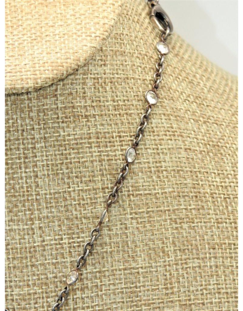 Gildas Gewels Diamond Skull & Snake on Vintage Chain