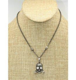 Gildas Gewels GG-NSK1C Diam Skull (LOVE) on Vintage Chain