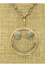 Gildas Gewels N1195-C Gold/Diam Smiley Face