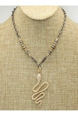 "Gildas Gewels 16"" 14k Diamond Snake, Vintage Chain"