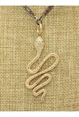 """Gildas Gewels N1219-C 14k/Diam 16"""" Snake"""