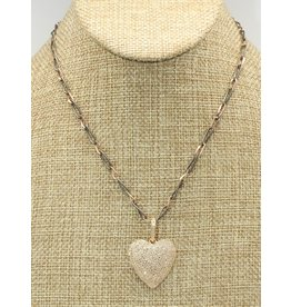 Gildas Gewels GG-N915C 14K Dia. Heart Necklace
