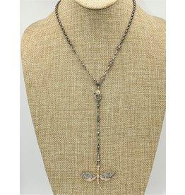"Gildas Gewels 16"" w/sm. Gold Dragonfly Pnd Necklace"