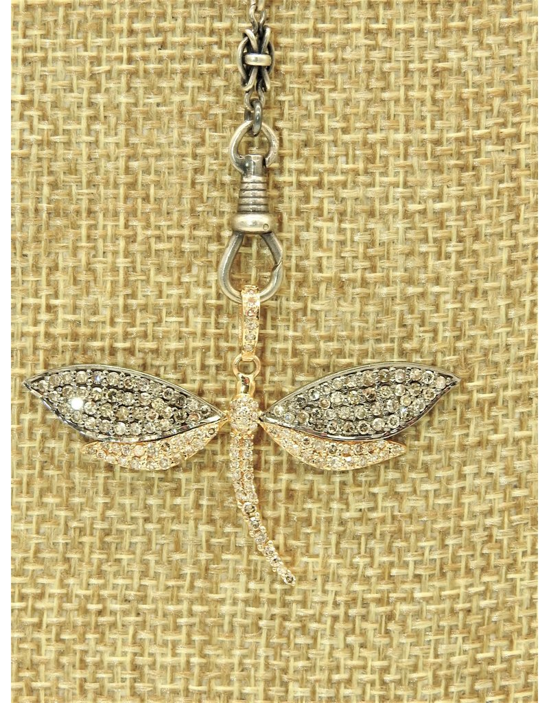 "Gildas Gewels N1291C 16"" w/sm. Gold Dragonfly Pnd Necklace"
