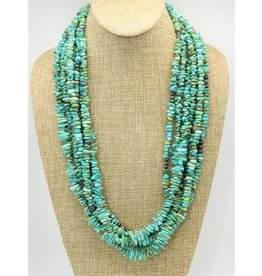 Karina 7 Strand Carico Lake Turquoise Necklace