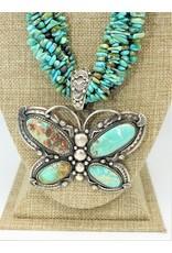 Karina Lg. Turquoise Darren Livingston Butterfly Pendant