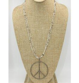 Gildas Gewels N1215C Peace Diam w/Opal Beads