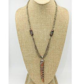 Gildas Gewels GG-N107C Sprial Diam Snake on Horn Necklace