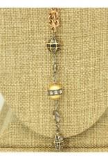Gildas Gewels GG-NA101C 3 Gold Dia Disc Necklace